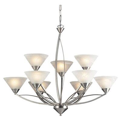Hagins 9-Light Shaded Chandelier