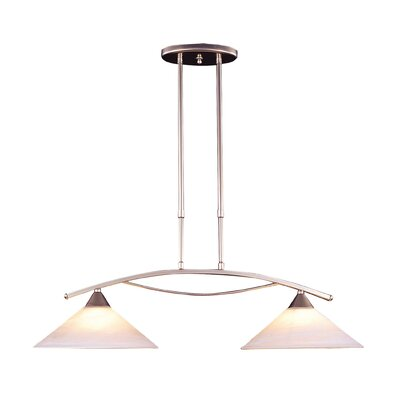 Hagins 2-Light Kitchen Island Pendant