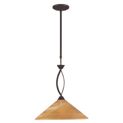 Hagins 1-Light Mini Pendant Finish: Aged Bronze