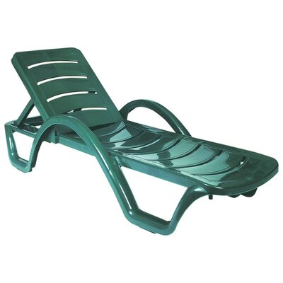 Snake River Chaise Lounge (Set of 4) Finish: Green