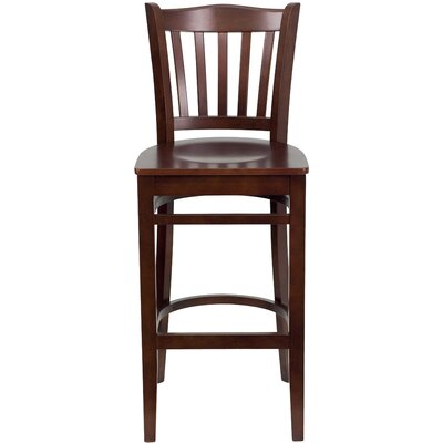 Orlison 29.5 inch Bar Stool Upholstery: Mahogany Wood