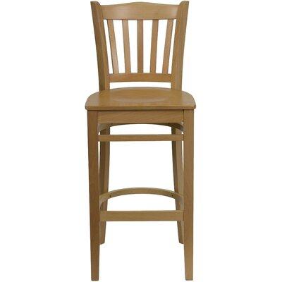 Orlison 29.5 Bar Stool Upholstery: Natural Wood