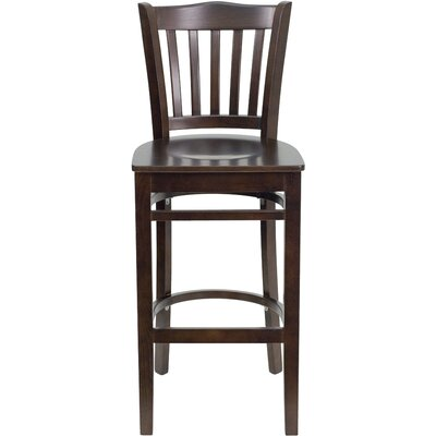 Orlison 29.5 inch Bar Stool Upholstery: Walnut Wood