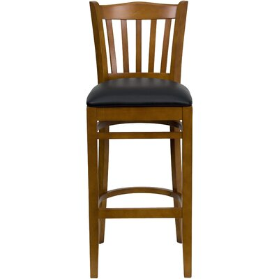 Orlison 29.5 Bar Stool Upholstery: Black Vinyl