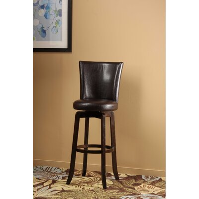 Shipyard Bitter Root 25.75 Swivel Bar Stool Upholstery: Brown