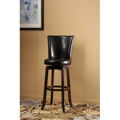 Shipyard Bitter Root 25.75 inch Swivel Bar Stool Upholstery: Black