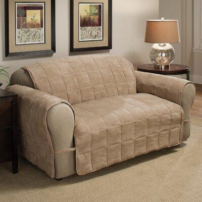 Duvig Box Cushion Sofa Slipcover Color: Natural