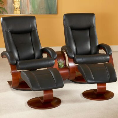 Flathead Lake 54 5 Piece Home Theater Recliner Upholstery: Black