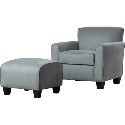 Great Northern Arm Chair and Ottoman Upholstery: Sky Blue