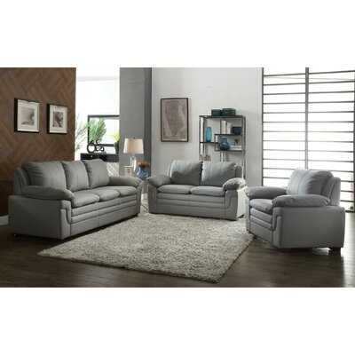 Chan Loveseat Upholstery: Grey