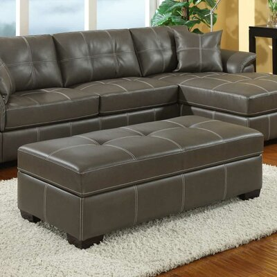 Wolfs Ridge Cocktail Leather Ottoman