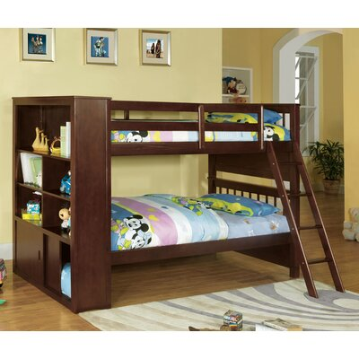 Oliver Twin over Twin Bunk Bed with Bookshelves