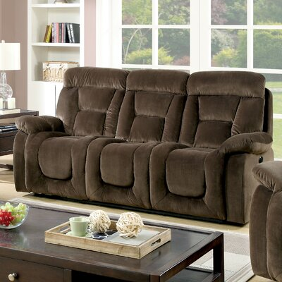 Westminster Reclining Sofa Type: Power, Upholstery: Brown
