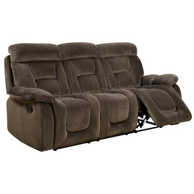 Westminster Reclining Sofa Type: Manual, Upholstery: Brown