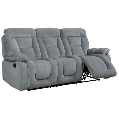 Westminster Reclining Sofa Type: Manual, Upholstery: Gray