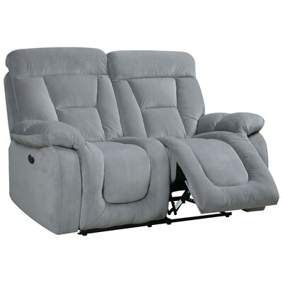 Westminster Reclining Loveseat Type: Power, Upholstery: Gray
