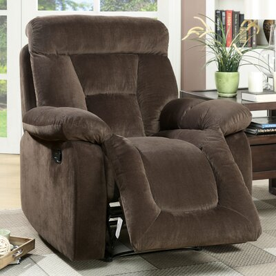 Westminster Recliner Upholstery: Brown, Type: Manual