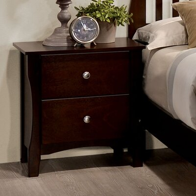 Joshua 2 Drawer Nightstand