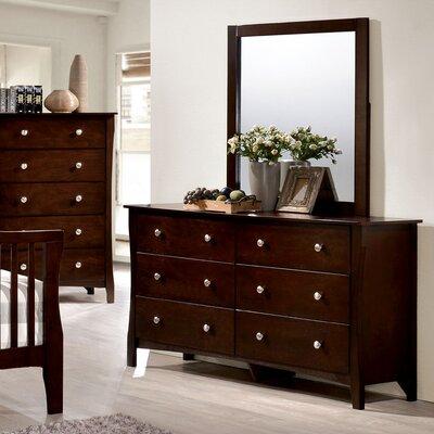 Joshua 6 Drawer Dresser with Mirror
