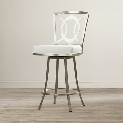 Chuckanut 26 Swivel Bar Stool Upholstery: White