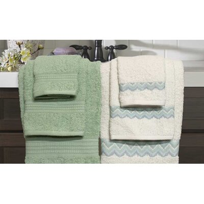 6 Piece Towel Set Color: Sage
