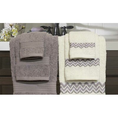 6 Piece Towel Set Color: Mauve