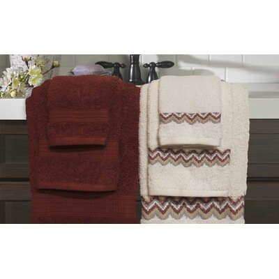 6 Piece Towel Set Color: Marsala