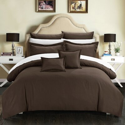 Seelye Comforter Set Size: King, Color: Brown