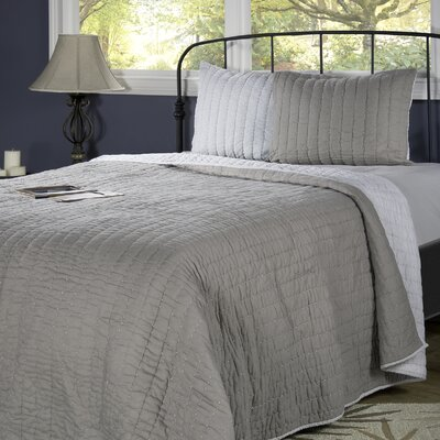 Smithwick Quilt Color: Gray/Silver, Size: Full/Queen