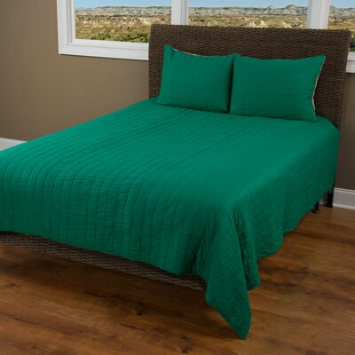 Smithwick Quilt Size: Twin, Color: Emerald Green/Khaki
