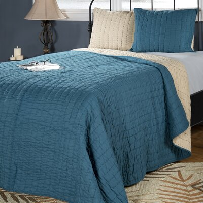 Smithwick Quilt Size: Full/Queen, Color: Petrol Blue/Khaki