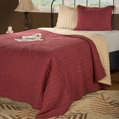 Smithwick Quilt Size: King, Color: Oxblood Red/Khaki