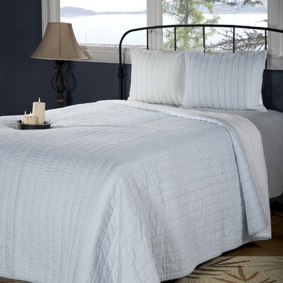 Smithwick Quilt Size: Full/Queen, Color: Light Blue/Ivory