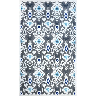 Ikat Cranebrook Machine Made Black Outdoor Area Rug Rug Size: 77 x 10