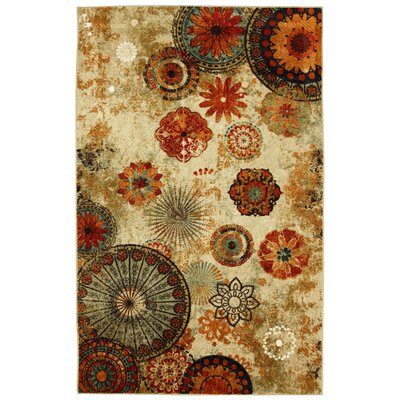 Brainard Alexa Medallion Brown/Red Indoor/Outdoor Area Rug Rug Size: 5 x 8