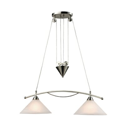 Beecroft 2-Light Metal Kitchen Island Pendant Bulb Type: 75W Incandescent