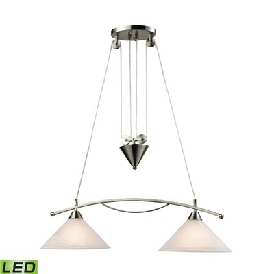 Hagins 2-Light Kitchen Island Pendant Bulb Type: 9.5W LED