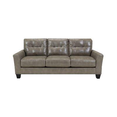 Moscato Leather Sofa Upholstery: Quarry