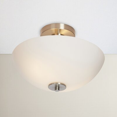 Listermann 1-Light Semi-Flush Mount Finish: Satin Nickel