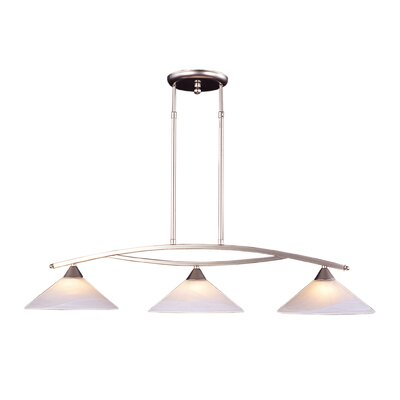 Beecroft 3-Light Metal Kitchen Island Pendant