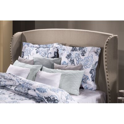 Mabrey Upholstered Wingback Headboard Size: Queen