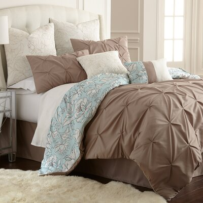 Machesney 8 Piece Comforter Set Size: Queen