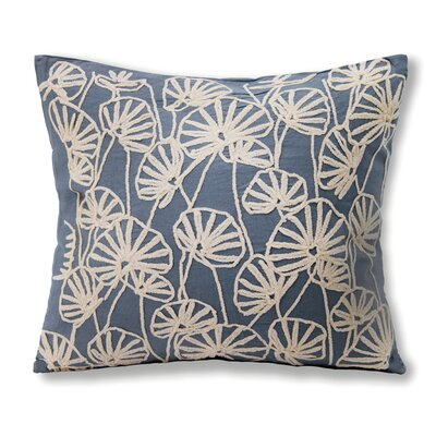 Alchemist Embroidered Cotton Throw Pillow Color: Blue