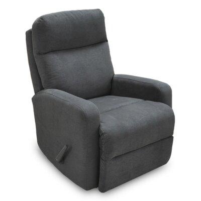 Mahomet Manual Rocker Recliner Upholstery: Raven