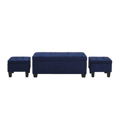 Alchemist 3 Piece Ottoman Set Upholstery: Blue