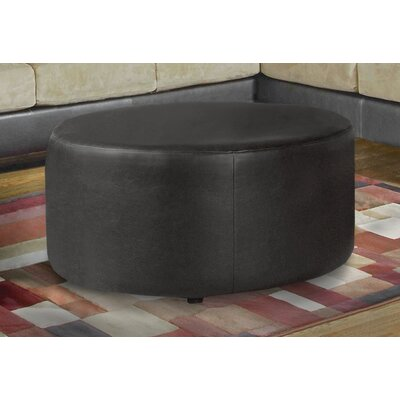 Malick Ottoman Upholstery: Marshall Walnut Bonded Leather