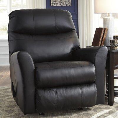 Lynwood Rocker Recliner Upholstery: Black