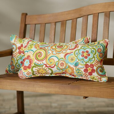 Broad Brook Indoor/Outdoor Lumbar Pillow Set Size: 12x24