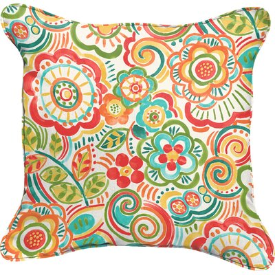 Broad Brook Indoor/Outdoor Throw Pillow Size: 18 H x 18 W, Color: Red Carnival