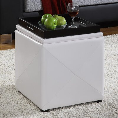 West Seattle Cube Ottoman Upholstery: White
